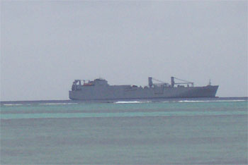 Navy ship off coast of Saipan