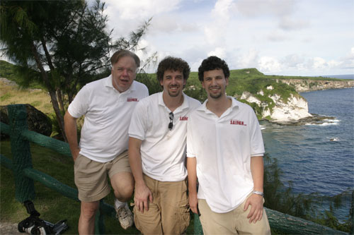 Gregg, Dan and Scott in Saipan